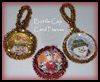 Bottle    Cap Christmas Card Frames  : Recycle Christmas Cards Ideas for Kids