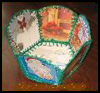 Christmas    Card Basket from Recycled Christmas Cards