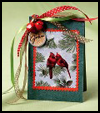 Birds    'n' Bells Place Cards  : Recycle Christmas Cards Ideas for Kids