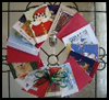 Christmas    Card Wreaths  : Recycling Christmas Cards for Children