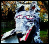 Paper bag wolf mask: A recycling craft for Halloween or theater