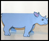 Folded Paper Rhinoceros Craft for Kids