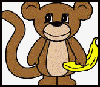 Monkey Paper Craft Idea for Kids