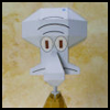 Squidward Tentacles Paper Model Printable Model