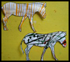 Striped Zebras Arts and Crafts Project Instructions for Children