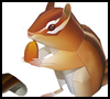 Squirrel Printable Foldable Paper Model for Kids
