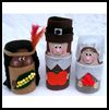 Cardboard     Tube Pilgrims & Indians  : Thanksgiving Decorations Crafts for Kids