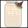 Word   search -Thanksgiving