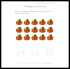 Thanksgiving   Counting  : Free Thanksgiving Printable Worksheets