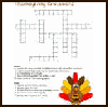 Thanksgiving   Crossword Puzzles  : Free Thanksgiving Printable Worksheets