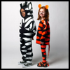 Tiger and Zebra Costumes : How to Make Zebra Costumes