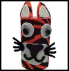 Tiger Pencil Holder Craft for Children