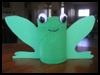 TP Toilet Paper Roll Frog Crafts Project