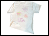 3-D   Fireworks T-Shirt  : T-shirt Decoration Crafts for Kids