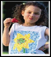 Flower   Power Tank Tops  : T-shirt Decoration Crafts for Kids