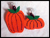 Pumpkin Window Hangers : Window Hanging Crafts Ideas for Children