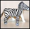 Folded Paper Zebra Craft for Kids