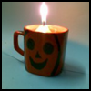 Make Halloween Jack-o-Lantern Candle Holder With an Old Teacup – Craft for Kids