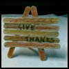 Thanksgiving Popsicle Sticks Decorational Centerpiece or Place Setting Card Craft for Kids