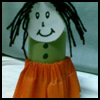 Napkin Holder Doll for Thanksgiving Dinner Table Decorations Crafts Idea for Kids