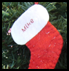 Pattern   and Directions to Sew a Felt Christmas Stocking Ornament