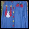 Snowman   Applique Shirts  : Free Christmas Sewing Patterns Ideas for Children