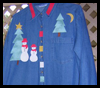 Christmas   Applique Shirts  : Christmas Patterns for Kids