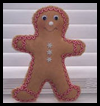 Learn   to Sew Gingerbread Man  : Free Christmas Sewing Patterns Ideas for Children