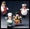 Chef,    Nurse, Paper Boy, Mom Ornaments