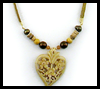Heart    and Leather Necklace