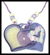 Solid   Perfume Heart Necklace