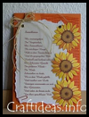 Sunflower   Card with Poem