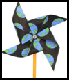 Earth   Day Pinwheel Crafts