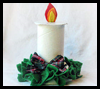 Ribbon   Spool Christmas Candles    : Crafts with  Wooden Spools