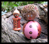 How   to Make Acorn Craft Peoples   : Crafts with  Spools for Children