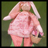 How   to Make an Easter Bunny Dolls   : Crafts with  Spools for Children