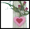 Hearts   & Flowers Magnets  : Crafts with Wooden Items