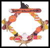 Halloween   Wreaths  : Crafts with Wooden Items