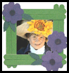 Craft   Stick Pansy Picture Frames  : Crafts Activities with Woodsies