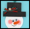 Woodsies™   Snowman with Hat Ornaments  : Woodsies Crafts for Kids