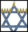 Craft   Stick Star of David  : Crafts Activities with Woodsies
