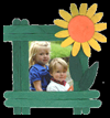 Craft   Stick Sunflower Picture Frames  : Crafts Activities with Woodsies