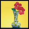 Colored    Tape Craft: Faux Flowers