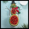 A   cute watermelon snowman