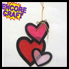 Tissue Paper Stained Glass Hearts Craft