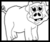 Learn how to draw cartoon pigs