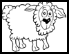 How to draw cartoon sheep / lambs