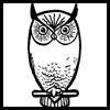 How to draw owls with simple directions