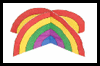3D   Rainbow Paper Craft