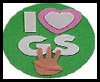 I   Love Girl Scouts Magnet